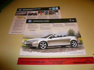 2008 Pontiac G6 Sales Flyer - Environmental Features