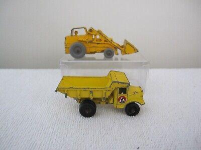 Matchbox Moko Lesney #6B Euclid 6 wheel Dumper #24b Weatherall Hydraulic Tractor