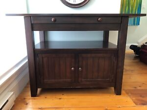 MOVING SALE! Wooden Bar Height Adjustable Table/Sideboard