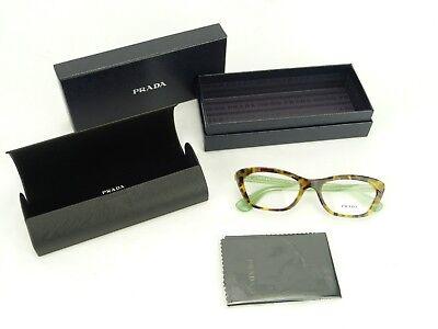 Authentic Prada 0PR 03QV PORTRAIT UEZ1O1 SPOTTED BROWN GREEN Eyeglasses