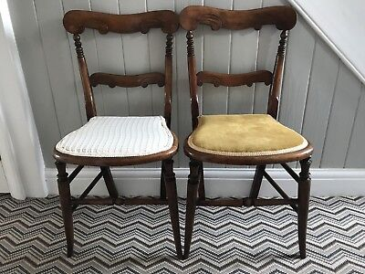 A Pair Of Late Victorian bedroom / hall chairs.