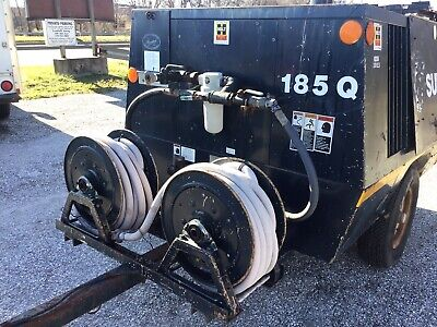 Sullair John Deere Powered Diesel 185q Air Compressor Trailer