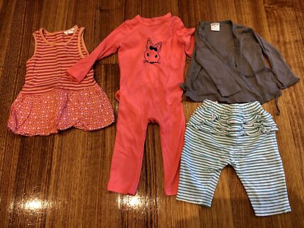 Seed and Pumpkin Patch, baby girl clothes bundle, size 00, GUC