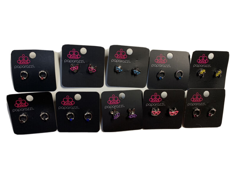 Paparazzi Starlet Shimmer Jewelry Earrings  10 Pairs Pack 18 NWT