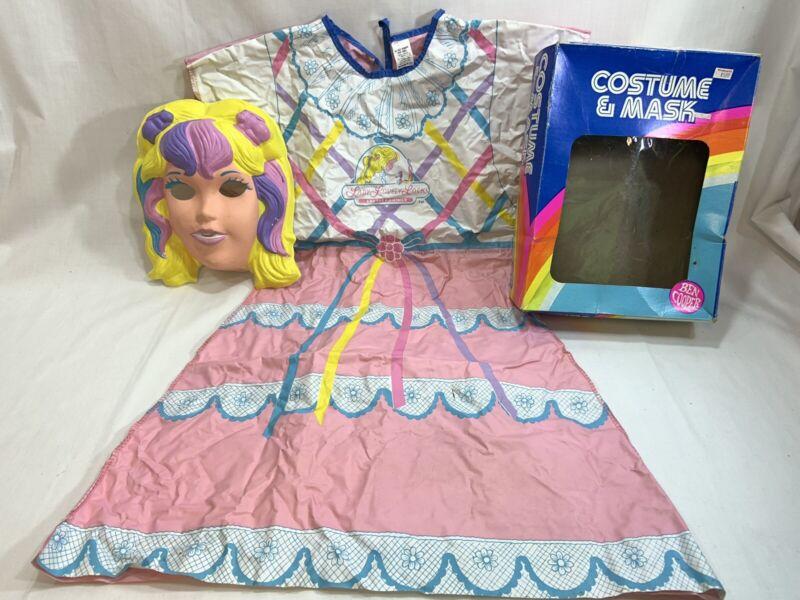Vtg 1987 Ben Cooper Halloween Kids Mask Costume Lovely Lady Locks Size 8-10 M