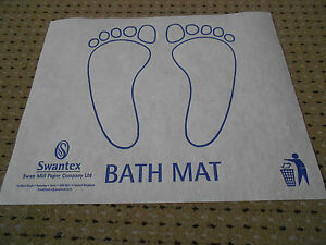 Bath Shower Mats Hygienic Paper Disposable Hotel Guest House Bathroom Ebay