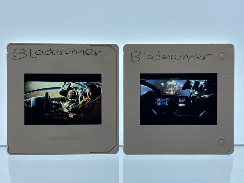 2 Blade Runner Movie 35mm Slides Harrison Ford Vintage #2