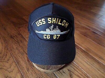 USS SHILOH CG-67 NAVY SHIP HAT U.S MILITARY OFFICIAL BALL CAP U.S.A MADE