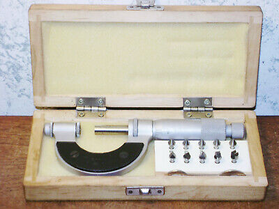 Vis 0-1 Inch Thread Pitch Micrometer W 5 Anvil Sets - Made In Poland