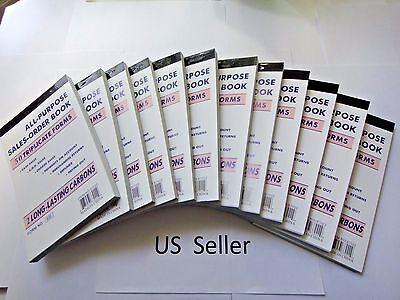 12x-2 Part Carbonless Sales Order Books Receipt Form 50 Sets Invoice Us Seller