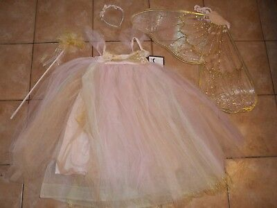 Pottery Barn Kids Butterfly Fairy Costume Pink Halloween 7 - 8 Years  #1612 - Pink Butterfly Halloween Costume