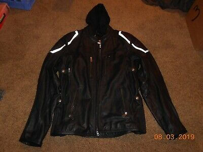 Harley Davidson Men INTERNAL COMBUSTION Skull Black Leather Jacket LT 97093-16VM