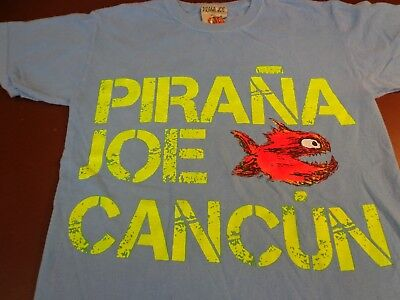 Cancun Light - Pirana Joe  Cancun  Light Blue  T-shirt  Small   J0