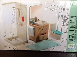 Djeco miniature doll house bathroom set BRAND NEW Hoppers Crossing Wyndham Area Preview
