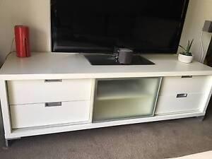 TV Entertainment TV Unit White TVunit Neutral Bay North Sydney Area Preview