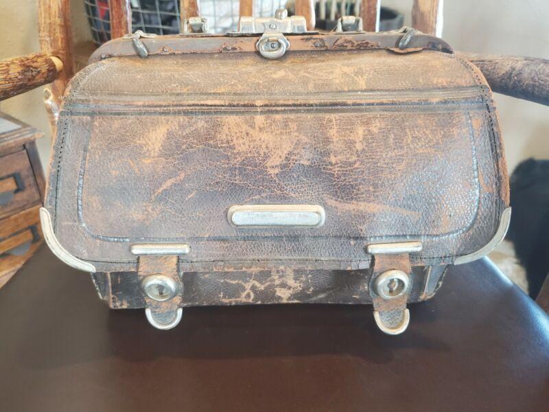 Antique Civil war era unmarked medical bag vintage collectable