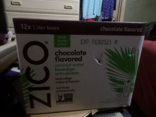 Zico Chocolate Flavored Coconut Water Case Of 12 - 1 Liter