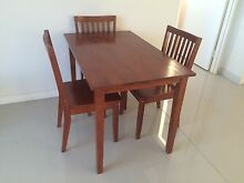 Wooden dining table and 3 chairs Botany Botany Bay Area Preview