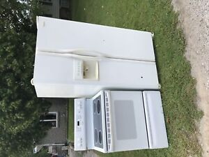 Fridge and stove(electric) -they work