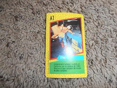 STING wcw CROMY card A1 wrestling