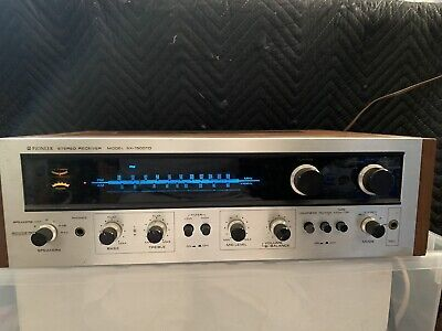 Pioneer Stereo Receiver Wood Case Silver Front Model SX-1500TD AS IS PARTS ONLY