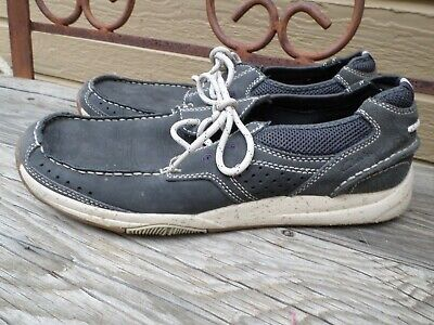 Clarks Gray Leather Casual Shoes Men's 11 M