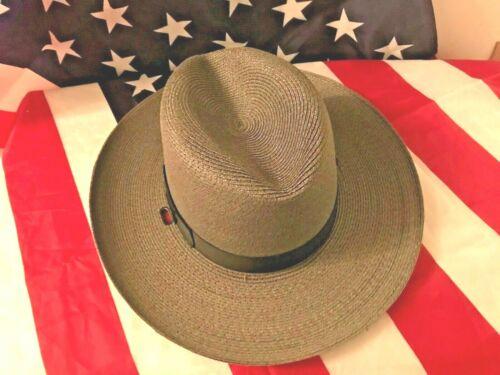 NEW SHERIFF -STRATTON SUMMER GREY S42 STRAW HAT / POLICE HAT/MILITARY/  2 sizes