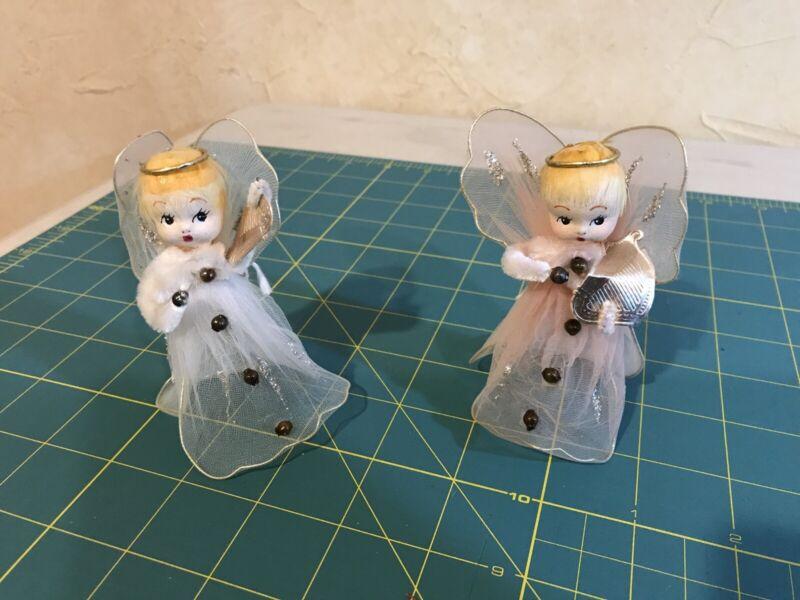 Vintage Angels Playing A Harp Delta Novelty Co. Japan (2)