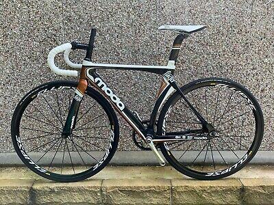 Moda Fuga 51cm Carbon Fibre Track Bike with Mavic Ellipse Wheel Set