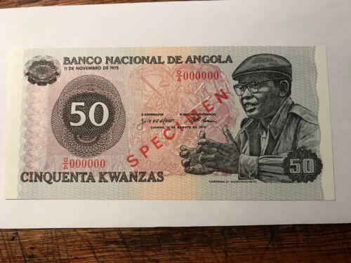 1976 Angola 50 Kwanzas SPECIMEN Gem CU #17335