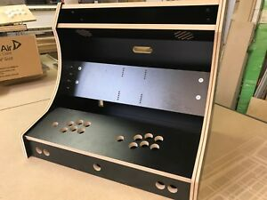 BARTOP DELUXE ARCADE Cabinet 2 PLAYER DIY FLAT PACK KIT 18mm Black Jamma Pi