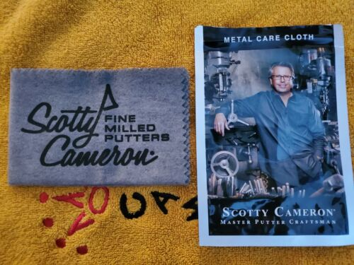 Scotty Cameron Putter Cleaner Oil cloth Metal Care Cloth Titleist NEW