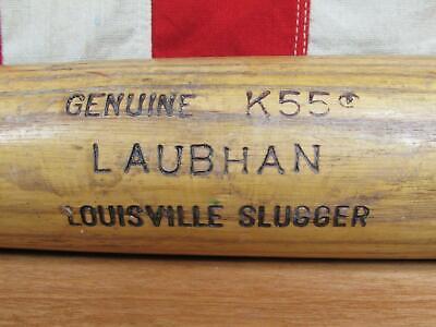"Vintage Louisville Slugger Wood Baseball Bat John Laubhan Game Used/Signed 3 """
