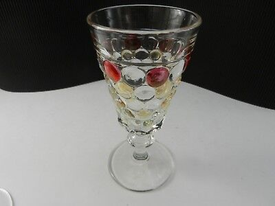 """Westmoreland Glass Thousand Eye Water Goblet Clear Stain 6 3/4"""" T"""