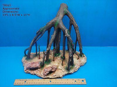 MANGROVE TREE TRUNK BRANCH ROOTS TR015 AQUARIUM RESIN SWIM THROUGH TANK DECOR