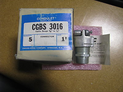 Crouse-hinds Condulet Box Connecdtor 1 Cgbs-3016 Explosion Proof