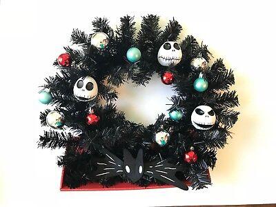 Disney Nightmare Before Christmas Black Wreath Jack Skellington with