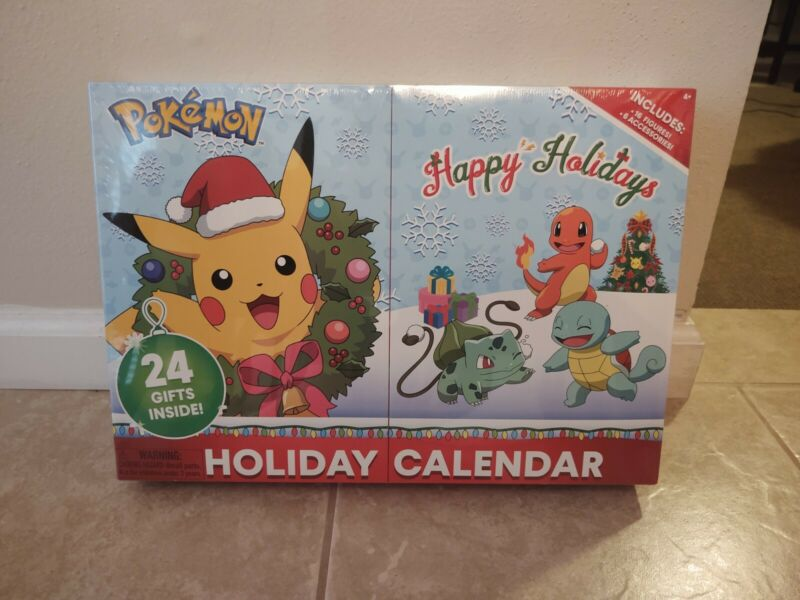 Pokemon Holiday Advent Calendar 24 Gifts BRAND NEW SEALED