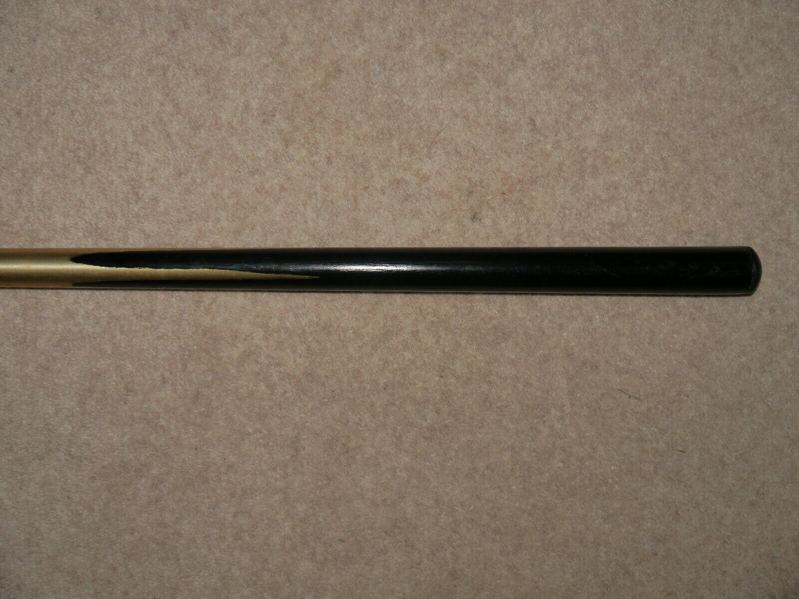 Bronzed aluminium two piece snooker cue
