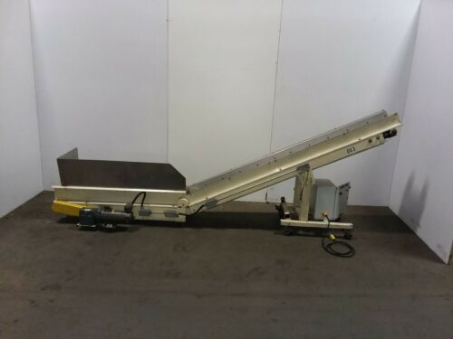 TEC Incline Part Chips Conveyor Cleated Variable Speed 115v 1PH