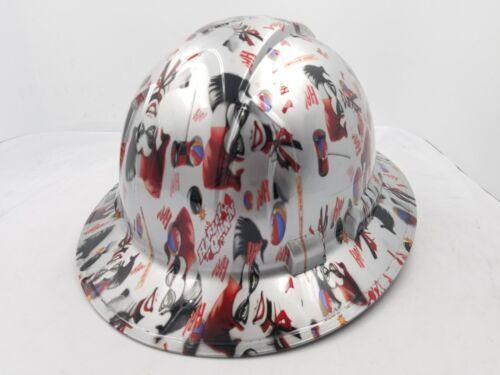FULL BRIM Hard Hat custom hydro dipped , NEW HARLEY QUINN JOKER BATMAN NEW 3