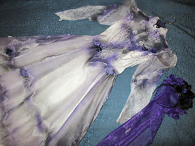 Victorian Day of the Dead corpse bride wedding dress COSTUME Mardi Gras gothic  - Day Of The Dead Bride Costumes