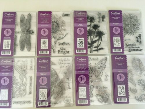 Crafters Companion A6 Clear Stamps 4.1x5.8 Inch YOU PICK NEW