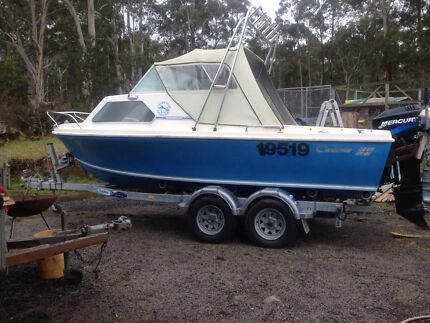 Caribbean Crestcutter 17'6 Boat, new trailer and Merc OB (low hrs Collinsvale Glenorchy Area Preview