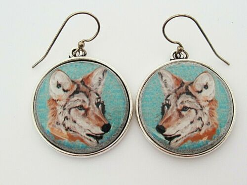 Coyote Original Art Earrings