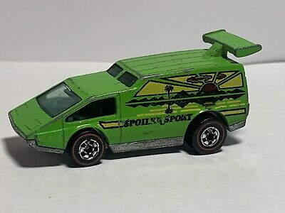 1977 HOT WHEELS REDLINE SPOILER SPORT - FLYING COLORS #16 - VERY RARE