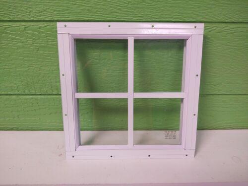 Shed Windows--12 x 12 flush/ j-lap mount brown or white