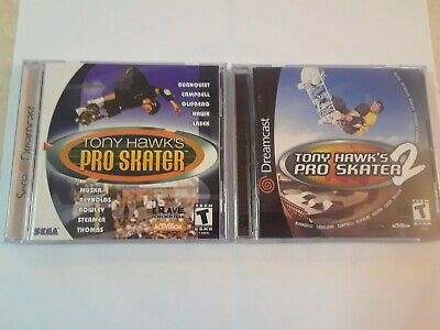 Tony Hawk Pro Skater 1 and 2 THPS Dreamcast CIB Complete