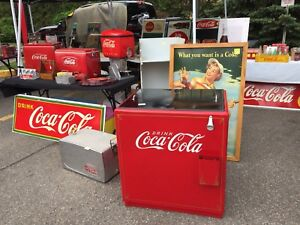 ON NOW!!!Giant Coca Cola Collectibles Yard Sale