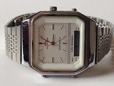 Vintage Anker Quartz Digital Alarm Chronograph 70's Men's Watch